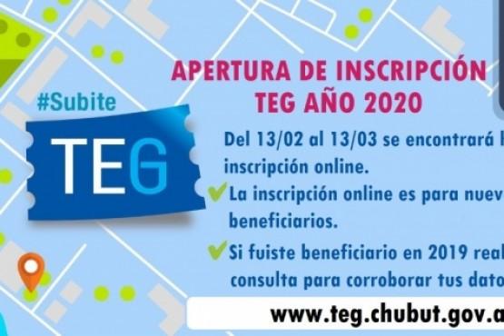 Inscripcion al TEG.
