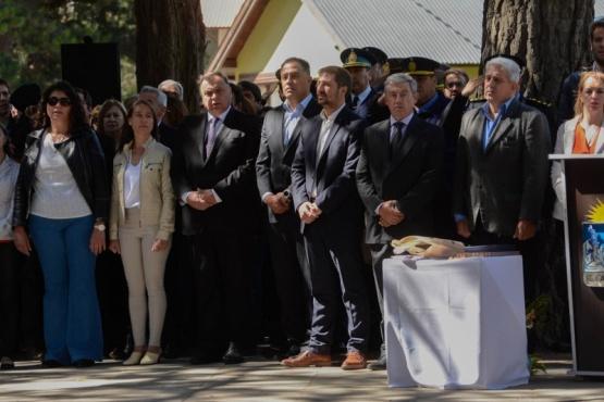 El vicegobernador, Eugenio Quiroga junto a Javier Belloni y Leandro Zuliani.