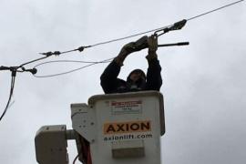 Tras el temporal, SPSE se encuentra trabajando en las líneas cortadas