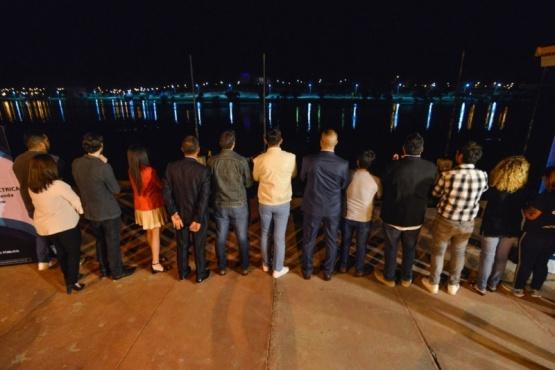 El Intendente inauguró el sistema de iluminación en la Laguna Chiquichano