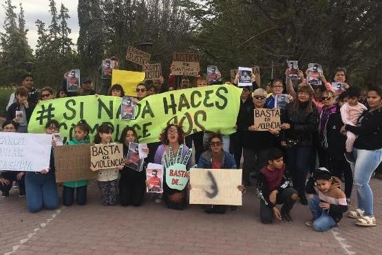 Poca adhesión a la marcha de esta tarde en Las Heras.