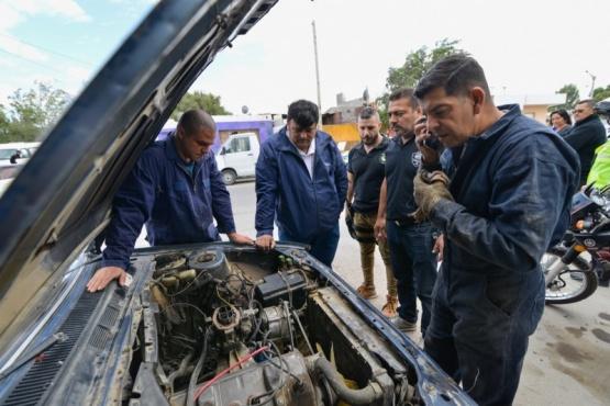 Municipio colaboró con policía en un nuevo operativo en talleres mecánicos