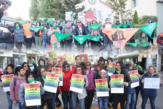 La marcha verde se dividió en el centro de Río Gallegos.