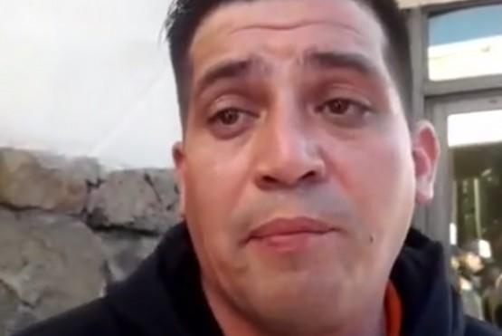 Diego, uno de los voceros de los 419 trabajdores en reclamo en YCRT.