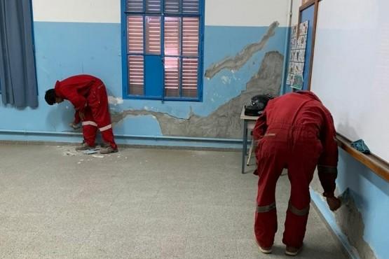 El Gobiernoavanza con las refacciones en las escuelas de Comodoro Rivadavia y Sarmiento