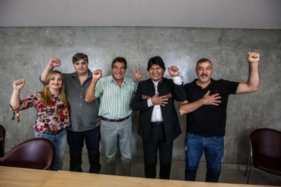 Garzón junto a Evo Morales