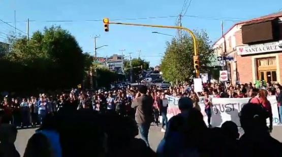 Masiva movilización en la localidad.