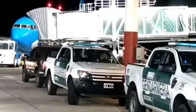 Celso llegó por la noche a Comodoro Rivadavia.