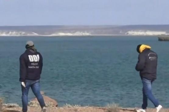 La DDI y policía realiza un rastrillaje en el lugar del hecho