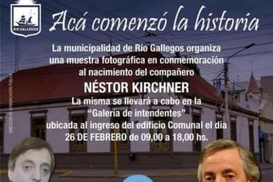 Muestra fotográfica de Néstor Kirchner.