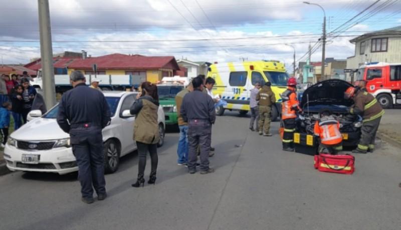 Argentino colisionó en Punta Arenas. (ElPinguino)