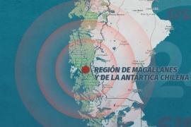 Se registró un sismo a kilómetros de Puerto Natales