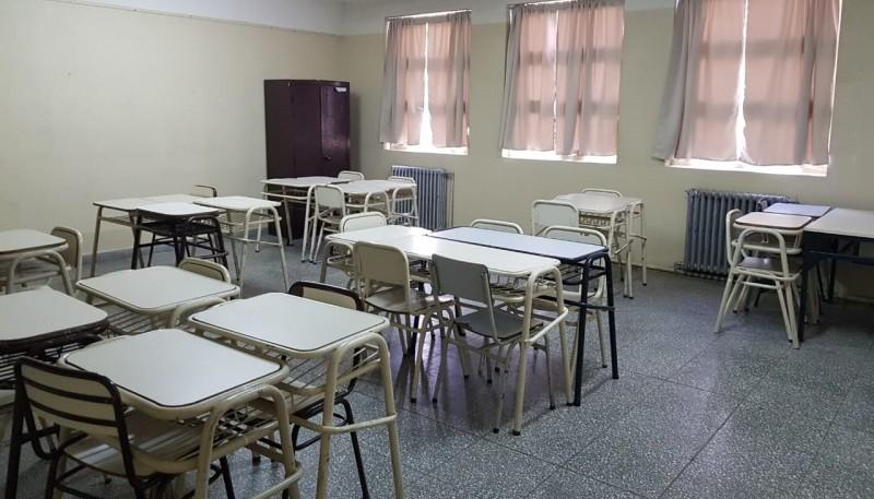 En algunas aulas se notó el acatamiento al paro.