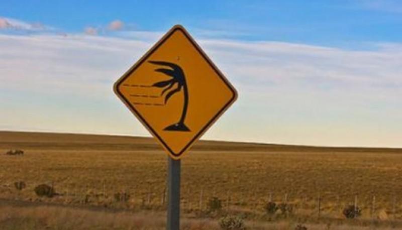 Clima ventoso en la zona oeste de la provincia.