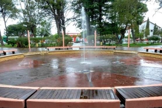 Avanza el proyecto remodelación de la plaza central de Rawson