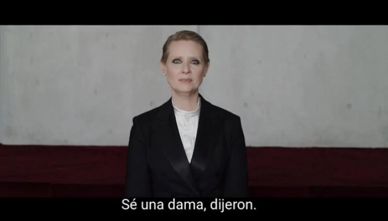 La actriz, Cynthia Nixon.