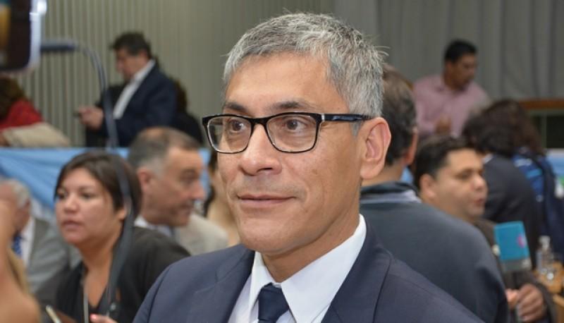 Eloy Echazú, diputado por el pueblo de Río Gallegos. (Foto C. Robledo)