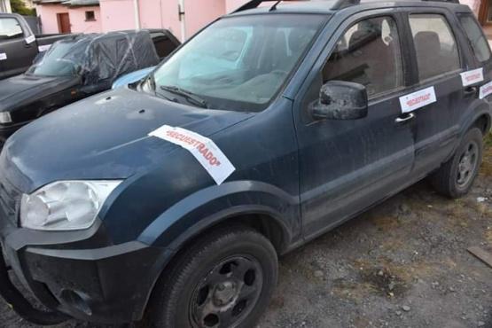Uno de los vehiculos secuestrados por alcoholemia.
