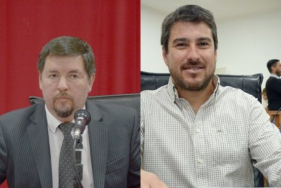Los concejales Muñoz y Roquel.