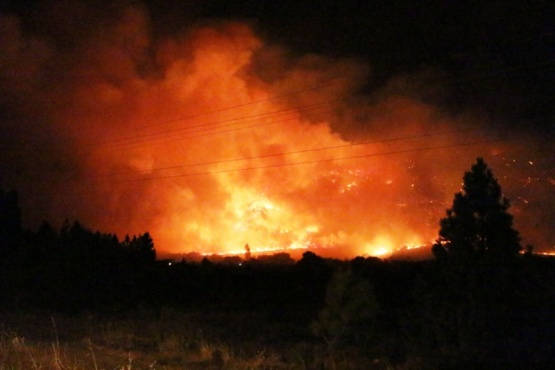 Incendio en Esquel.