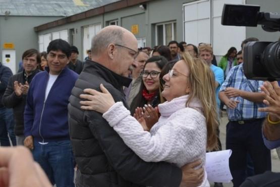 Francisco Anglesio junto a Alicia Kirchner.