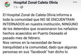 El Hospital de Caleta niega que esté internado el sujeto del crimen de Deseado