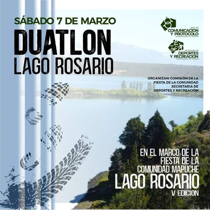 Se correrá el Duatlón Lago Rosario