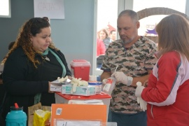 Municipales en acción: la Intendencia se trasladó al barrio Evita