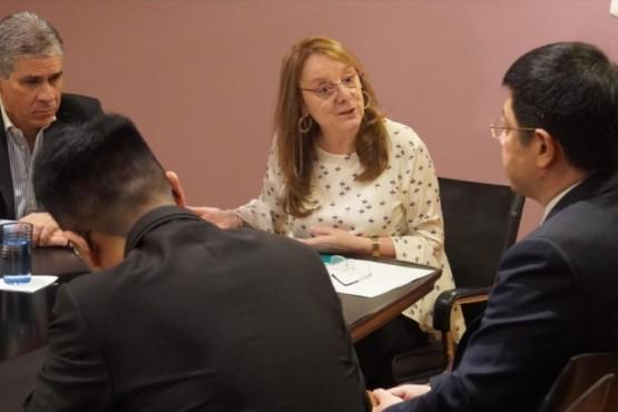 Alicia se reunió con el embajador de China
