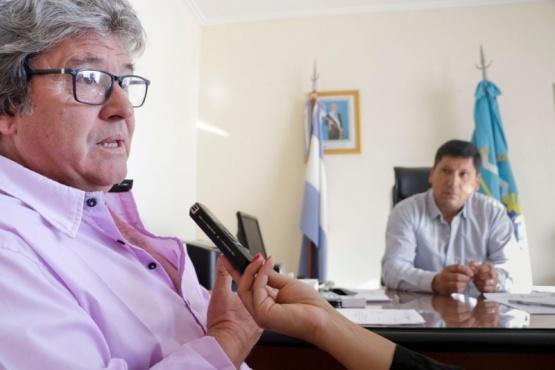 Aguilera se reunió con el jefe comunal de Ricardo Rojas