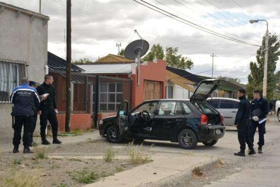 Vivienda allanada por el personal policial en la mañana de ayer. (Foto: C.R.)
