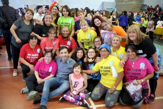 El intendente Pablo Grasso en las actividades del 8M. (C.G)