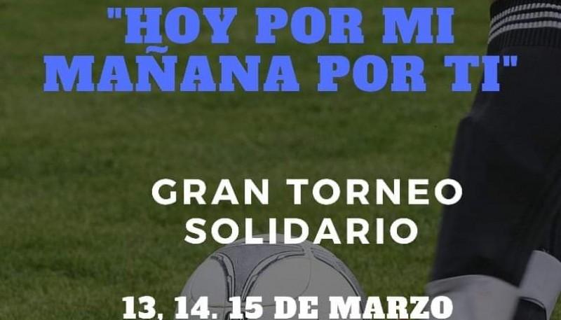 Torneo de fútbol solidario.