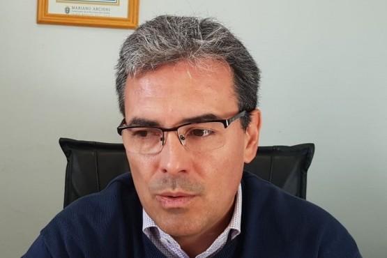 Jefe de la Policía del Chubut, Miguel Gómez.