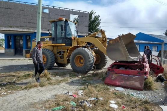 Vialidad Provincial concreta acciones en Río Gallegos