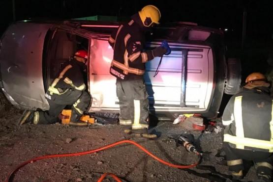 La mujer fue rescatada por el personal del G.E.R.S. de Bomberos.