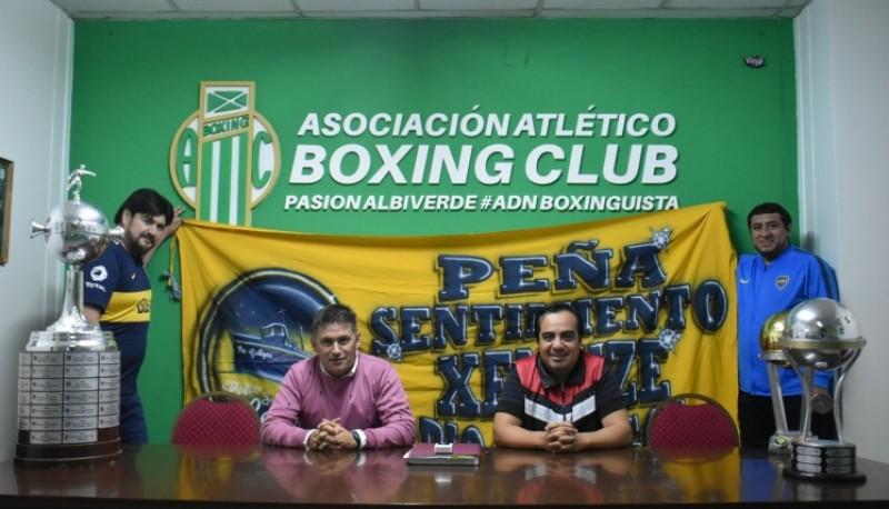 Reunión entre la peña y el Boxing.