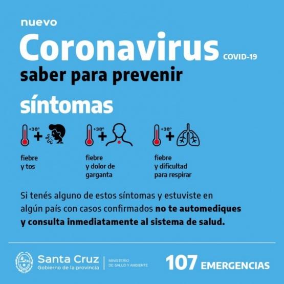 No se registró ningún posible caso de Coronavirus en Caleta Olivia