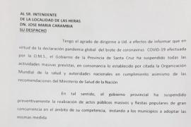 Provincia pidió a Carambia que suspenda la Fiesta de la Estepa Patagónica