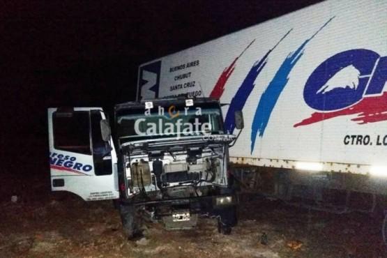Uno de los camiones involucrados.