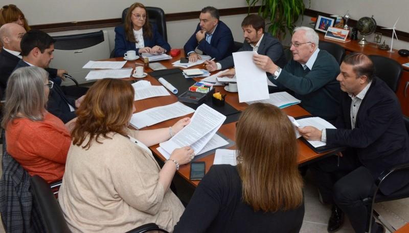 El gabinete provincial reunido.