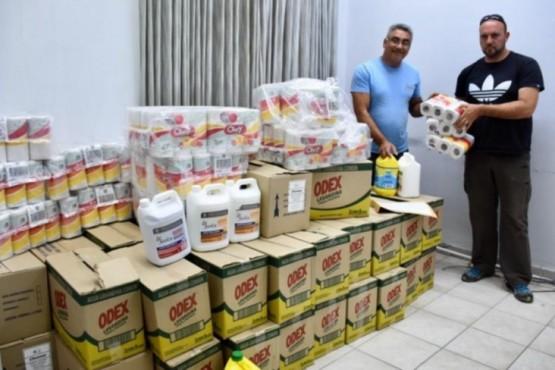 El Municipio entregó elementos de higiene de prevención