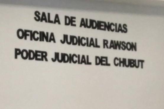 Oficina Judicial Rawson canceló audiencia