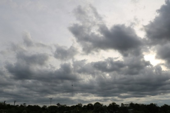 Cielo nublado.