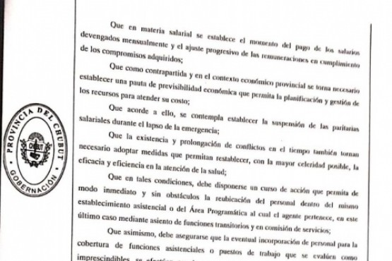 Arcioni declaró la Emergencia Sanitaria