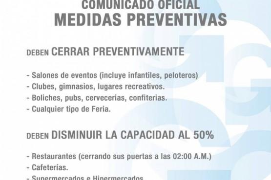 Medidas preventivas del Municipio