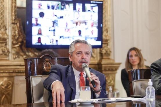 El Presidente de la Nación, Alberto Fernández.