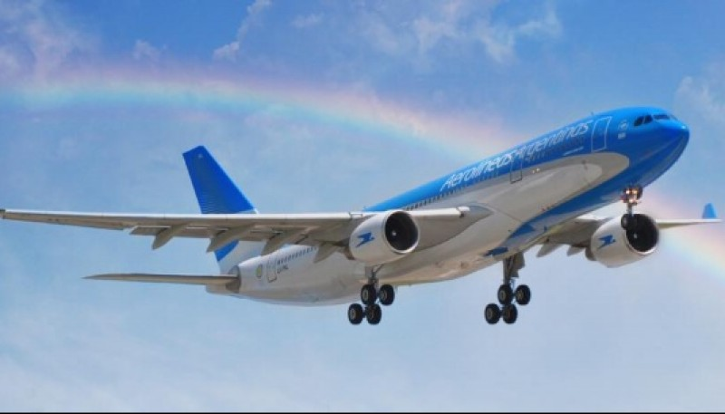 Avión de Aerolíneas Argentinas.
