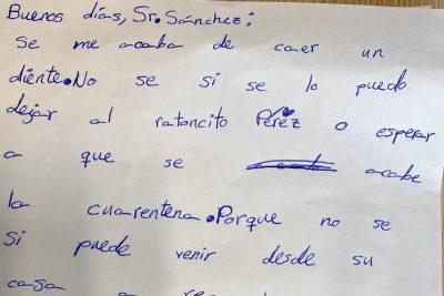 La carta de la niña.