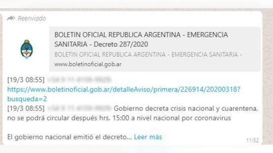 Investigan distribución de un falso decreto de cuarentena.